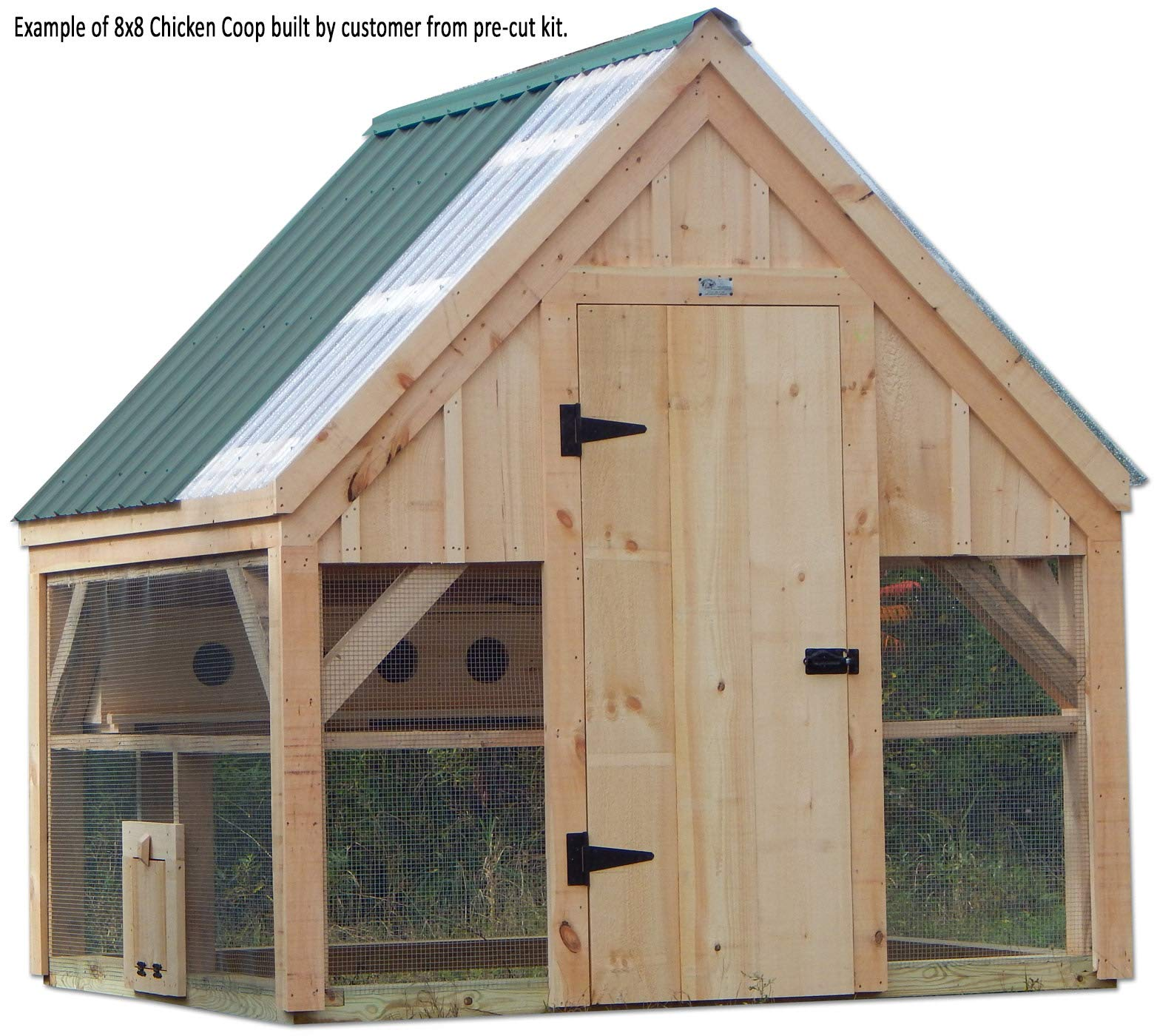 Timber Frame Post and Beam Plans - 8x8 Chicken Coop with Nesting Boxes - Step-By-Step DIY Plans by Jamaica Cottage Shop, Inc.