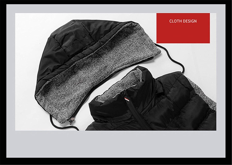 Mildred Jones Sleeveless Hoodie Vest Men Winter Warm Black Sleeveless Jacket Slim Waistcoat for Men Windbreaker Coats