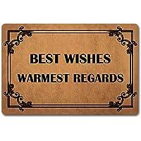ST MATS Welcome Doormat Funny Mat Best Wishes Warmest Regards with Personalized Design Outdoor/Indoor Doormat (23.6 X 15…