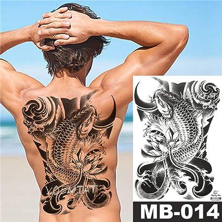 adgkitb 2 Piezas Sketch Feroz Tiger Tattoo Stickers Impermeable ...