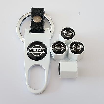 Nissan Deluxe blanco neumático válvula tapas con llave ...