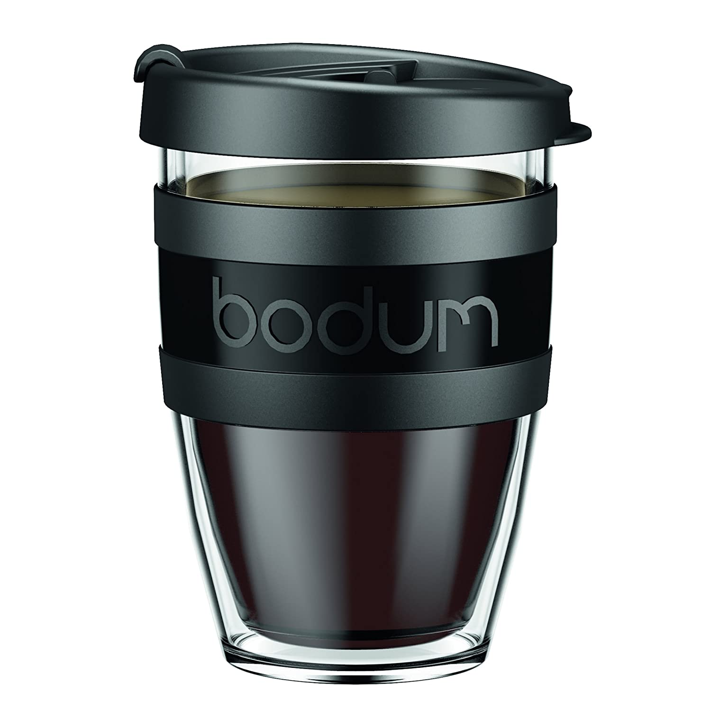 Bodum Travel Mug Black Bpa Free Double Wall Coffee Tea Hot