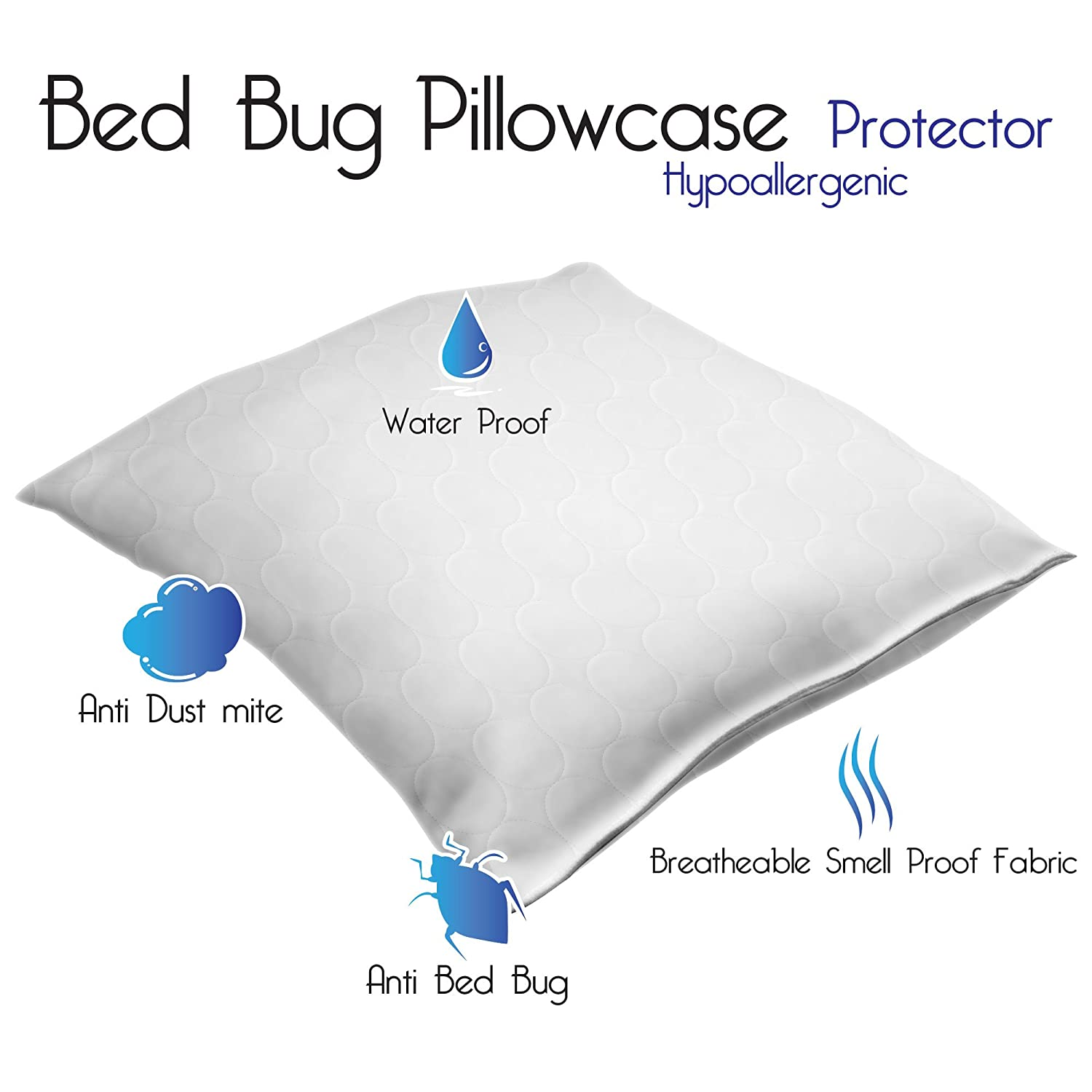amazon com remedy cotton bed bug and dust mite pillow protector