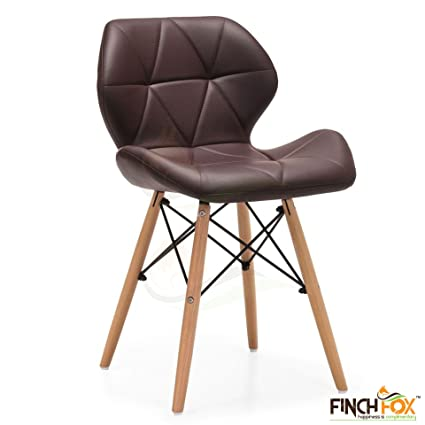 Eames Replica Faux Leather Dining Chair/Cafe Chair/Side Chair/Accent Chair (Brown) Color by Finch Fox