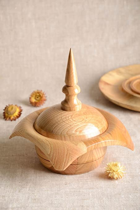 Joyero de madera artesanal con tapa estuche para bisuteria ...