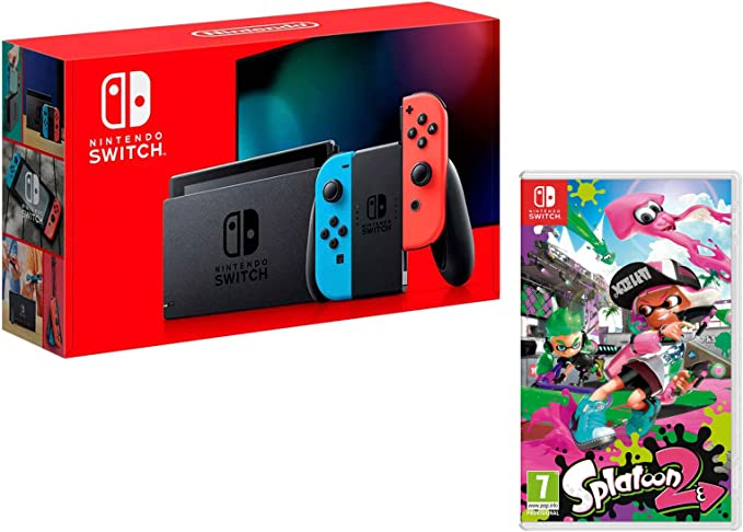 Nintendo Switch 32gb azul/rojo neón + Splatoon 2: Amazon.es: Videojuegos