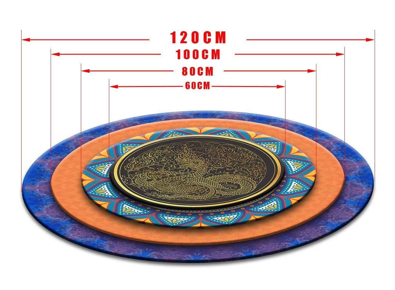 LB LB LB Von Hand gezeichnetes Muster,Mandala,Indien_Rund Fläche Teppich Wohnzimmer Schlafzimmer Badezimmer Küche Bodenmatte Inneneinrichtung,120x120 cm B07925TSP7 Teppiche 625c35
