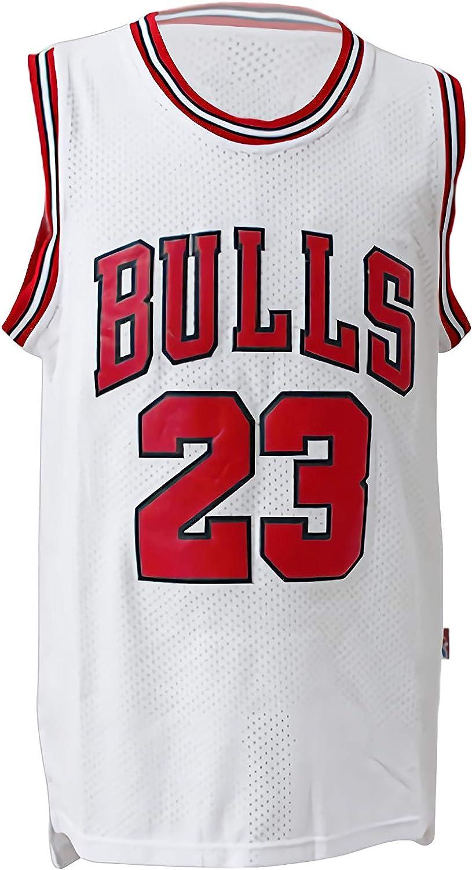 Camiseta de Baloncesto NBA Chicago Bulls para Hombre Michael Jordan # 23 Retro Basketball Swingman Jersey