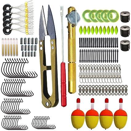 Dingbear 19 tipos de accesorios de pesca Conjunto de engranajes de pesca que incluye flotadores de ...
