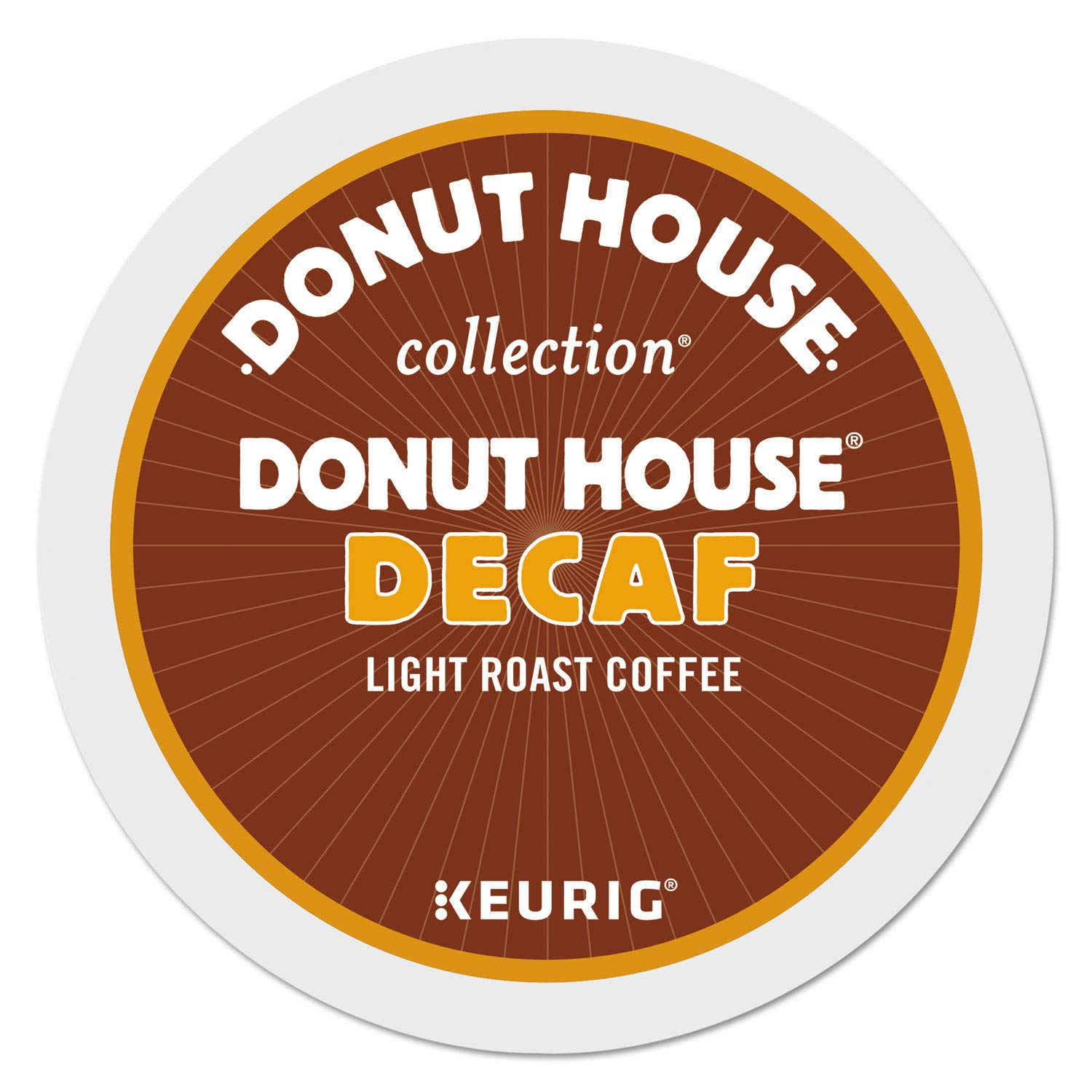 Donut House Collection Decaf, Single-Serve Keurig K-Cup Pods, Light Roast Coffee, 96 Count