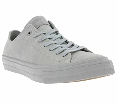 fbd80c47283e Converse Men s Chuck Taylor All Star II Lux Leather OX Trainers Grau 7.5 UK
