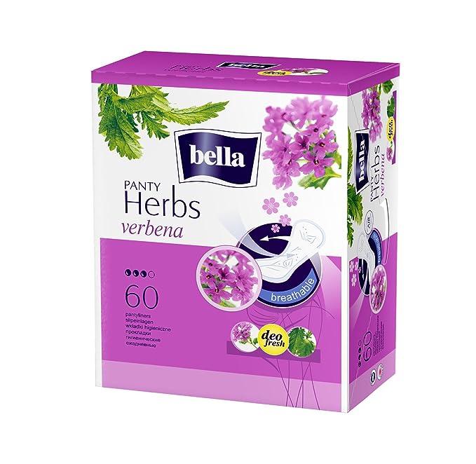 Bella Herbs Panty Liners, 60 Pieces (Verbena) Panty Liners at amazon