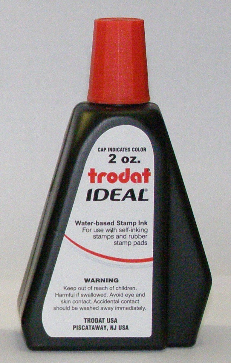 New RED 2oz Trodat Ideal self inking stamp refill TR-RI-2oz-02