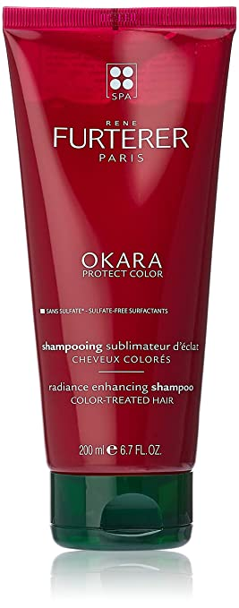 Rene Furterer OKARA Radiance Enhancing Shampoo, Safe for Color-Treated Hair