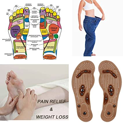 Shoe Insole Foot Acupressure Care Magnet Massage Gel Pads Inner Sole Pain Relief