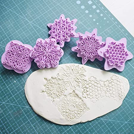 Texture silicone sheet Love hearts polymer clay texture stamp