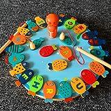 Livoty Fishing Game Toy Set Magnetic Rod Fishing