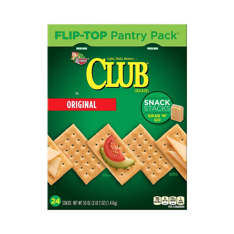 Keebler Club Crackers, Snack Stacks, Original, Grab 'N' Go, 2.08 oz Packages(6 Count)(Pack of 12) by Club Crackers