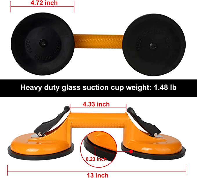 Suction Cup Lifter Bicaquu Vacuum Suction Cup Environmentally Friendly Powerful Suction Manual Straight Edge Leveling for Marble Installation Seam Joining