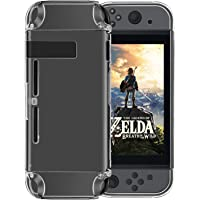 Findway Crystal Clear Shock Absorption Cover Case for Switch Console