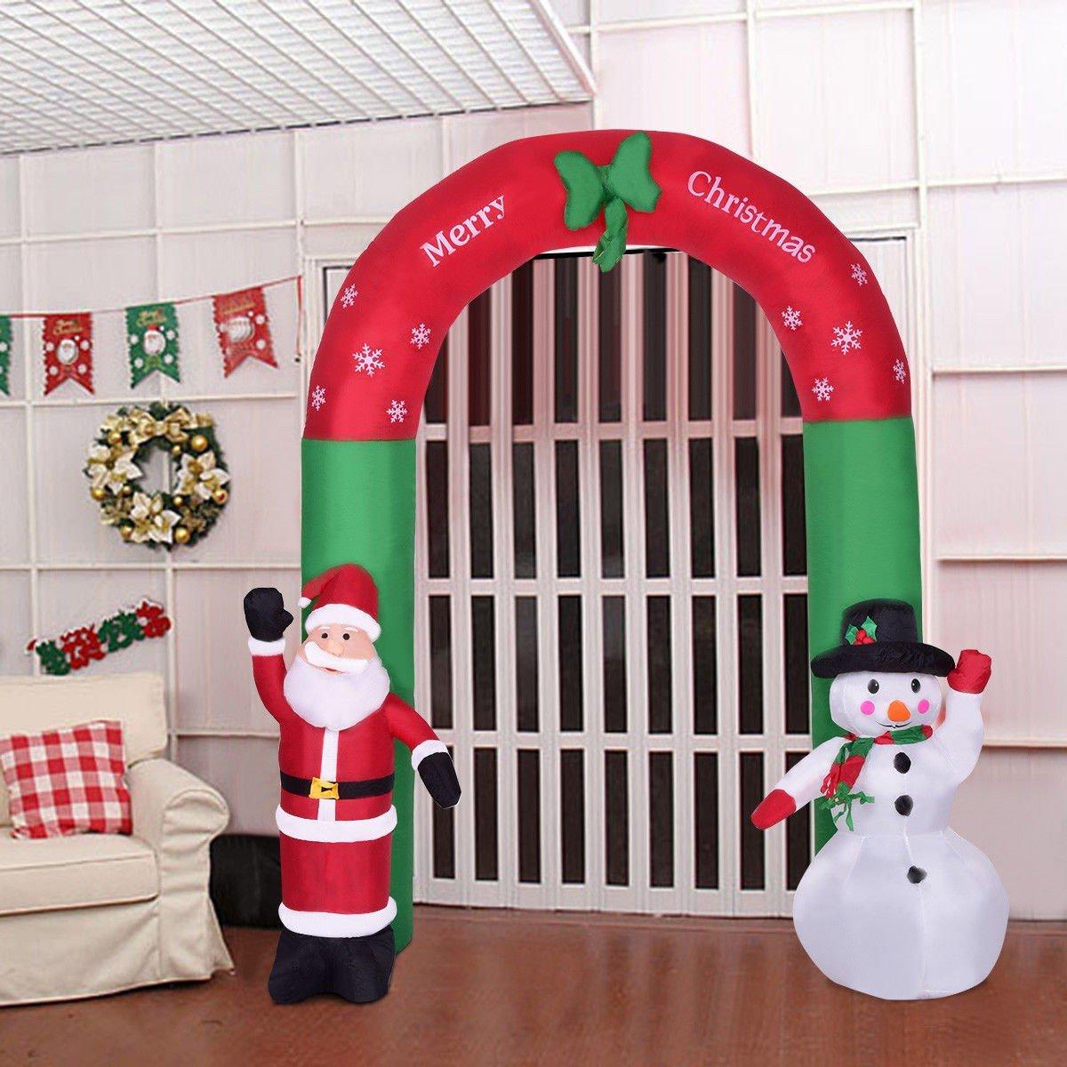8.2' Indoor / Outdoor Christmas Arch Santa Claus Snowman