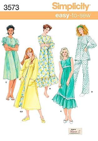 Simplicity Schnittmuster Nachthemd, Pyjama and-m, L, XL: Amazon.de ...