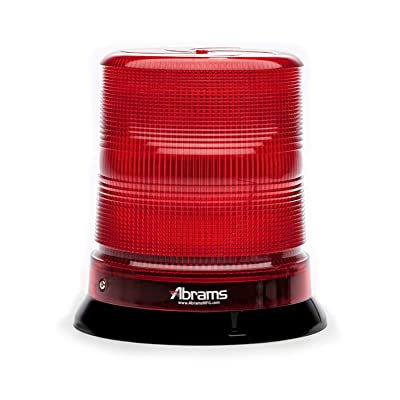 "Abrams 7"" Inch StarEye Dome LED Beacon [12 LED] [36W] Roof Top Permanent Mount [SAE Class-1] [30+ Flash Patterns] [IP67] EMS EMT Fire Emergency Vehicle Auto Red Flashing Warning Strobe Beacon Light: Automotive"