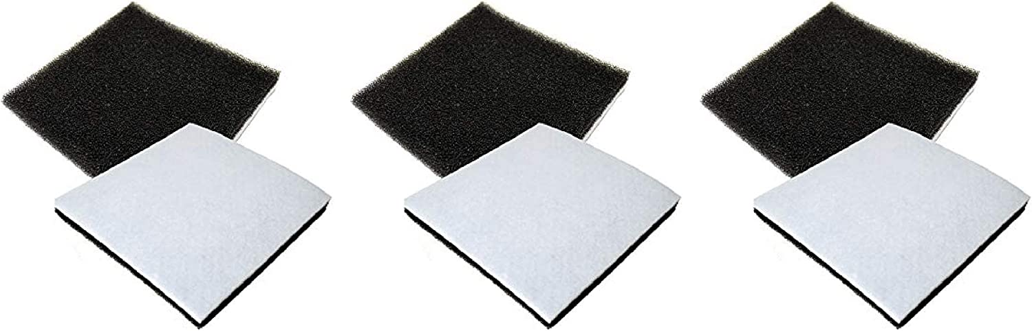 Nispira Replacement Filter Compatible with Sears Kenmore Progressive & Whispertone, Panasonic Vacuum. Compared to Part CF1 CF-1, 86883, MCV9568 and AC37KAKTZ000, 6 Filters