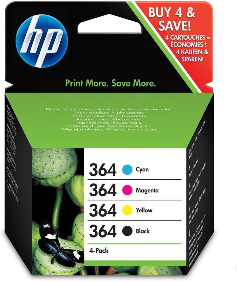 HP Ink No.364 Combo Pack Juodas + Color (N9J73AE): Amazon.es: Electrónica