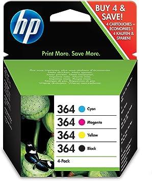 HP Ink No.364 Combo Pack Juodas + Color (N9J73AE): Amazon.es ...