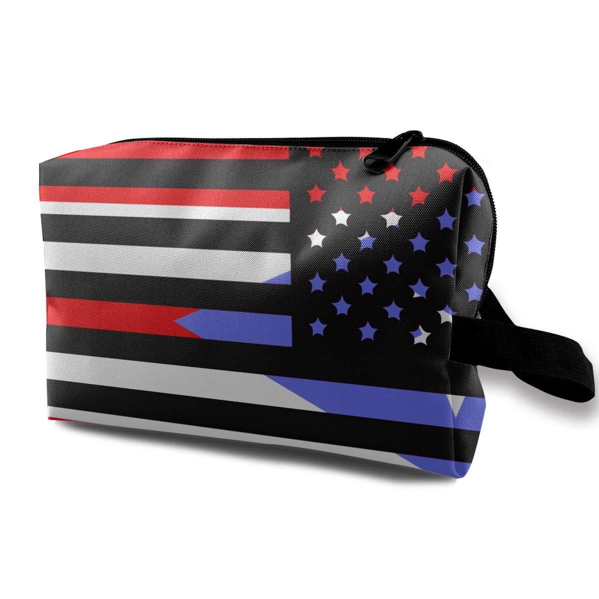 20c2af49fded Amazon.com: Puerto Rico American Flag-1 Men Women Toiletry Bag ...