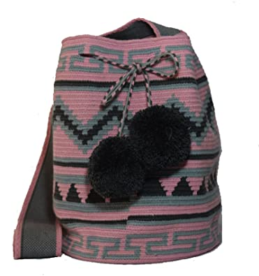 ba74471b3 GLOBAL Mochila Wayuu Ethnic 100% Hand Woven Shoulder Bag Multicolor:  Handbags: Amazon.com
