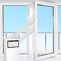 HOOMEE Tür- und Fensterabdichtung für mobile Klimageräte, Klimaanlagen, Wäschetrockner, Ablufttrockner | Air Stop zum Anbringen an Flügelfenster und Balkontüren (Fensterabdichtung Klimaanlage 560cm)