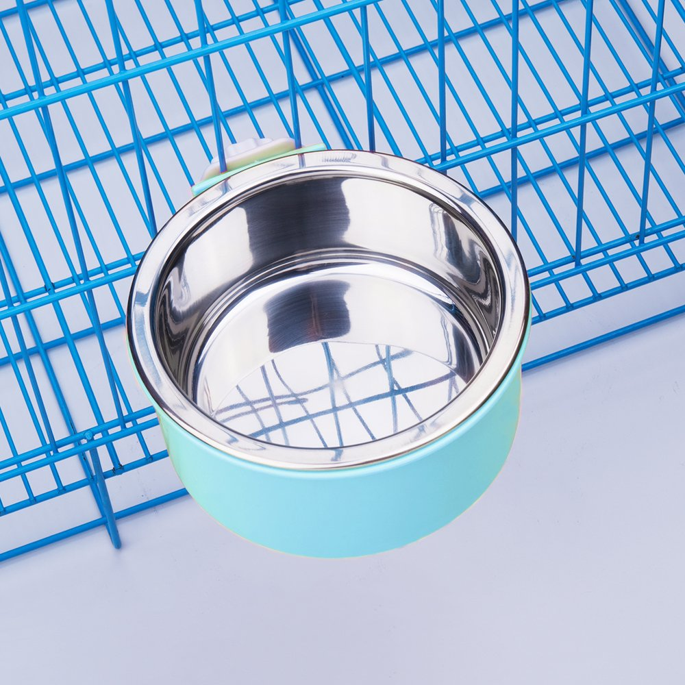 Amazon 5 stars Crate Dog Bowl, Stainless Steel Removable Hanging Food Water Bowl Cage Coop Cup for Dogs, Cats, Small Animals,14 oz by Amazon 5 stars (Image #6)