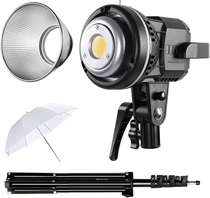GVM 80W Video Light with Bowens Mount 5600K 13000Lux@0.5m Daylight Photography Lighting for Studio YouTube Video Recording Outdoor Shooting 2 PCS LED Continuous Video Light with Tripod