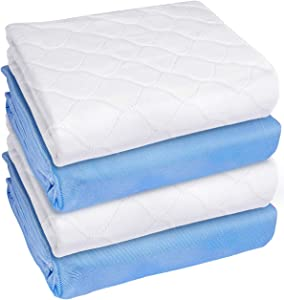 Heavy Absorbency Bed Pad, Washable and Reusable Incontinence Bed Underpads, 34
