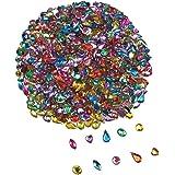 1000PCS Acrylic Flatback Rhinestones Gems Craft Gemstone Embellishments Colorful Jewels for DIY Craft Wedding Birthday Decoration Favor