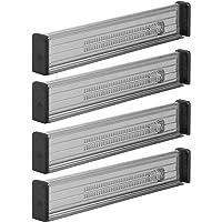 mDesign Zestaw 4x przegródki do szuflad – niezbędne akcesoria kuchenne – regulowany organizer do szuflady z ochronną…