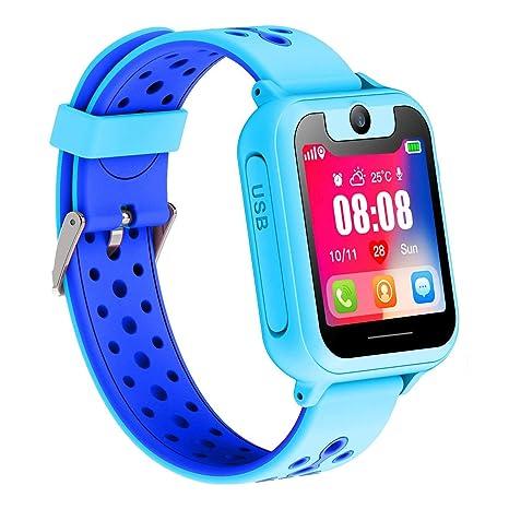 Reloj Inteligente Para Niños, Niñas y Niños Regalo de Cumpleaños o Festival SIM llamadas(