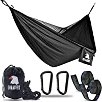Covacure Camping Hammock - Hold Up to 772lbs Portable Double Hammocks with Mosquito Net For Backpacking, Camping, Travel, Beach, Yard.