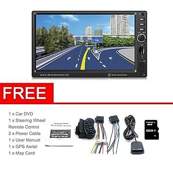 SWM-8012G Pantalla de Pantalla Grande de 7 Pulgadas Navegación GPS DVD del Coche Solicitud de Asistencia del Reproductor de música con Bluetooth Mini TF: ...