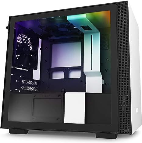 NZXT H210i - Caja PC Gaming Mini-ITX - Panel frontal E/S Puerto USB de Tipo C -
