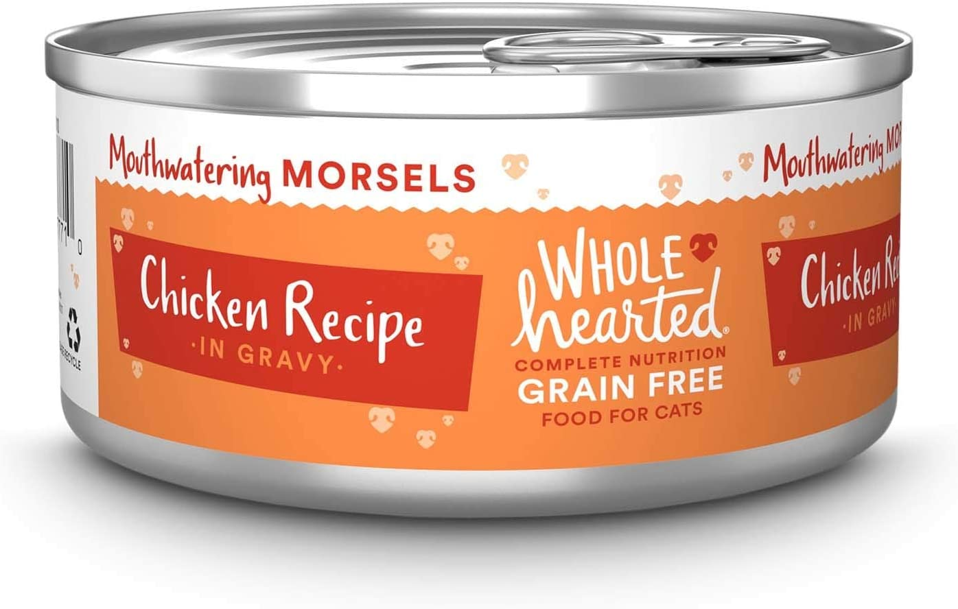 WholeHearted All Life Stages Grain-Free Chicken Recipe Morsels in Gravy Wet Cat Food, 5.5 oz, Case of 12, 12 X 5.5 OZ