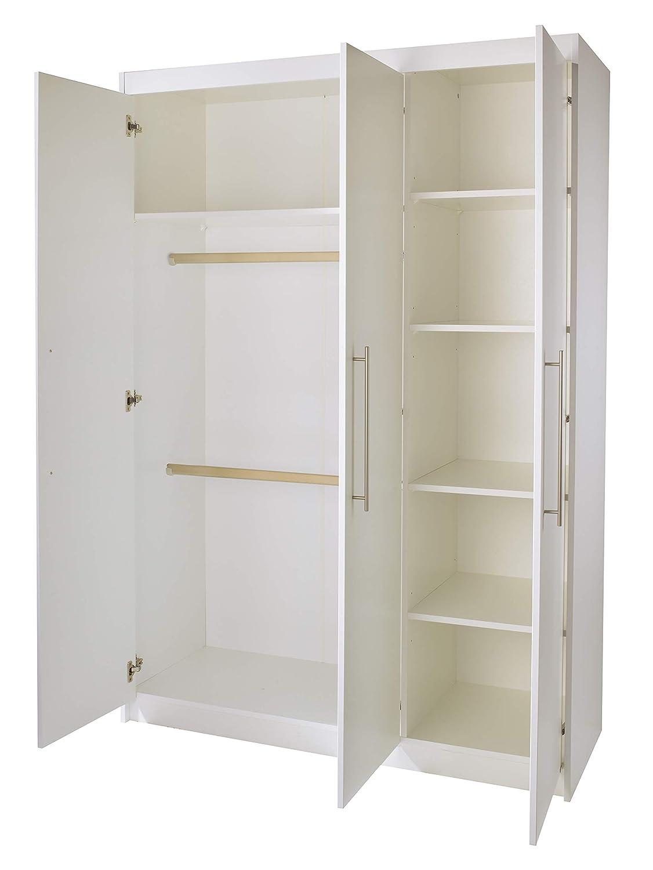 Roba schmale Wickelkommode 'Maren' inkl. Wickelansatz, Kinderzimmer Kommode mit zwei zwei zwei Türen und einem offenen Fach, Wickelhöhe 90 cm, weiß 590e63