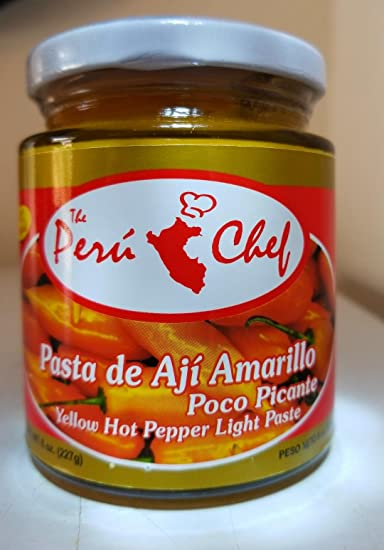 PASTA DE AJI AMARILLO, POCO PICANTE-YELLOW HOT PEPPER LIGHT
