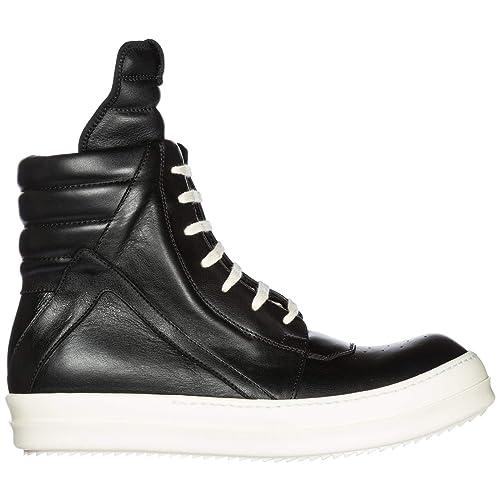 7f03f8e6 Rick Owens Zapatos Zapatillas de Deporte largas Hombres en Piel Negro EU  42.5 RU18F1894LPO 991: Amazon.es: Zapatos y complementos
