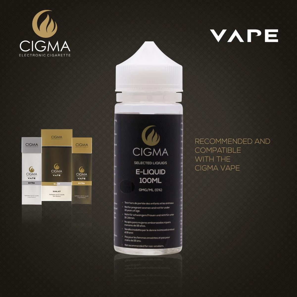CIGMA Limon Rosado 100ml E Liquido 0mg | Nuevas botellas de llenado leve| Fórmula de calidad superior con solo ingredientes de alto grado | Hecho para ...