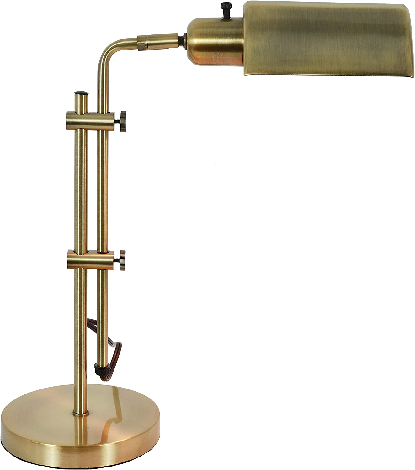 Decor Therapy TL20413 Adjustable Pharmacy Zadar Brass Table Lamp