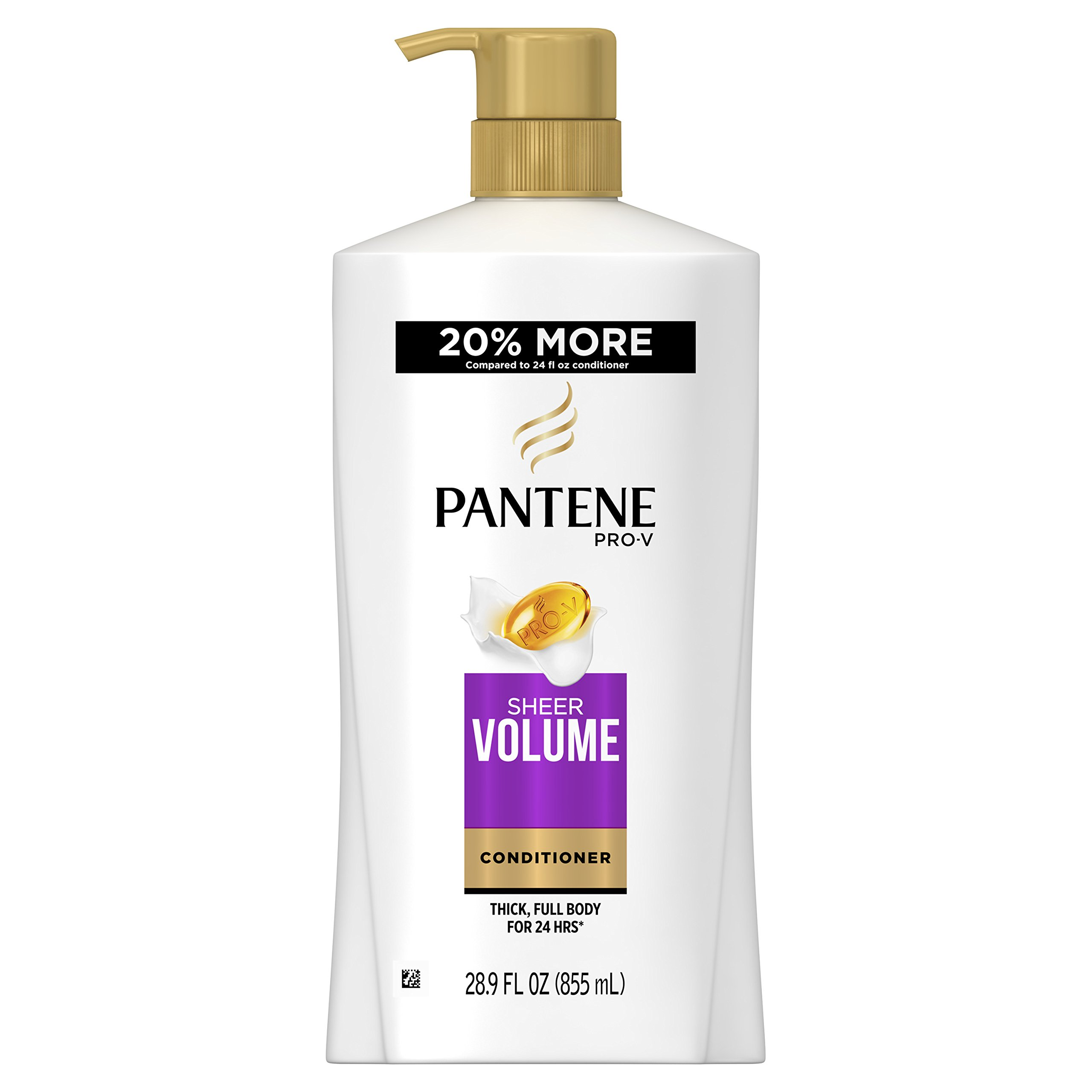 Pantene Pro-V Sheer Volume Conditioner, 28.9 Fluid Ounce (Pack of 4) (Packaging May Vary)