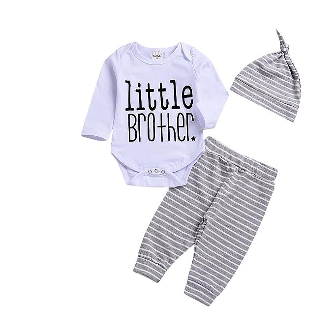 528f89851a47 Amazon.com  BELS Baby Boy Clothes Set Twins Big Little Brother ...
